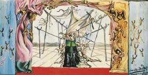 Design For The Set Of by Salvador DALI