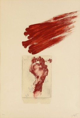 Untitled, (lit: Galfetti 349) by Antoni TAPIES