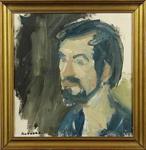Självporträtt by Gustav RUDBERG