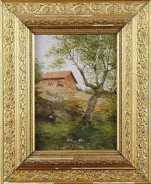 Landskap Med Stuga by Rudolf Konstantin GITSLER