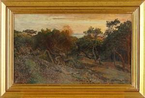Tallar I Aftonrodnad by Alfred WAHLBERG