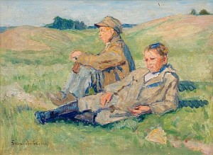 Resting Boys by Nikolai Petrovich BOGDANOV-BELSKY