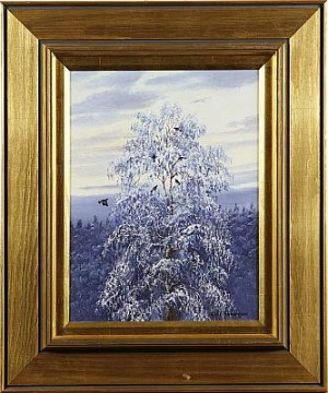 Träd Med Orrar by Arvid ANDERSSON