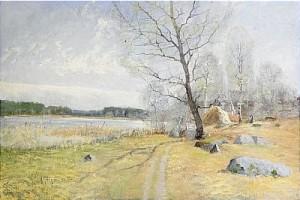 Vårlandskap Från Tidö by Anton GENBERG