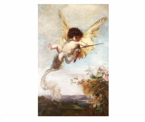 Bågskjutande Amorin by Julius KRONBERG