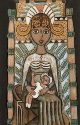 Vierge à L'enfant by Marie Ivanovna VASSILIEFF