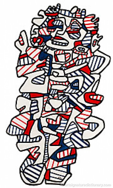Le Mage by Jean DUBUFFET