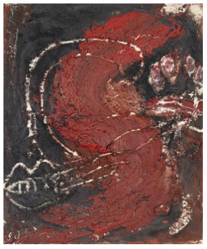 Petit 's' Rouge by Antoni TAPIES