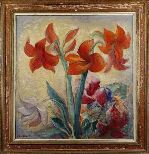 Stilleben Med Amaryllis by Jan BRAZDA