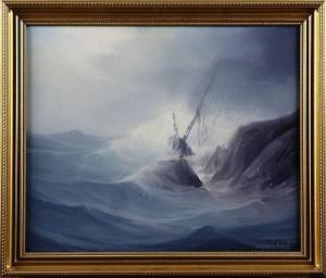 Skeppsbrott Vid Kust by Karl Gustav HOLMBERG