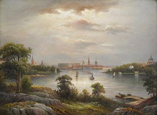 Stockholm Från Stora Essingen by Ernfried WAHLQUIST