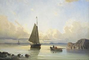 Marint Motiv Med Segelbåtar by Christian Fredrik SWENSSON