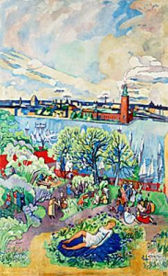 En Vårdag I Stockholm by Hilding LINNQVIST