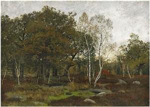 Höstlandskap Från Fontainebleau by Oscar TÖRNÅ