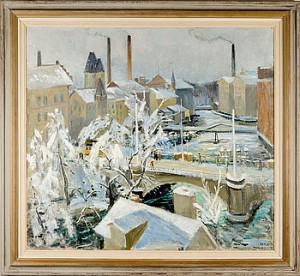 Mot Bergsbron, Norrköping by Gustaf Adolf FAHLE