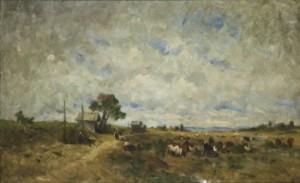 Vallflickor Med Boskap by Olof ARBORELIUS