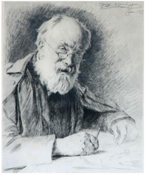 Porträtt Av Just. Min. Frölich by Peder Severin KRØYER