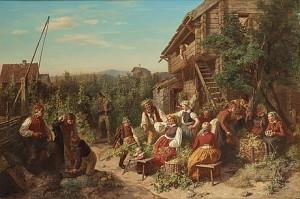 Humleskörd I Askarboda, österåker by Josef Wilhelm WALLANDER