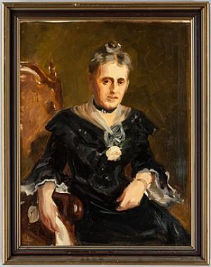 Porträtt Av Grevinnan Ebba Piper 1904 Enligt Etikett A Tergo by Bruno HOPPE