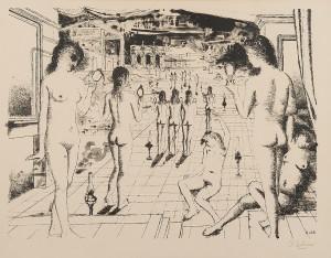 Les Miroirs by Paul DELVAUX