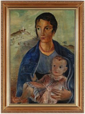 Kvinna Med Barn by Åke JOHANSSON