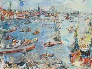 Hamburg, Hafen Ii by Oskar KOKOSCHKA