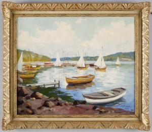 Båtar Vid Strandkanten by Peter KURBATOV