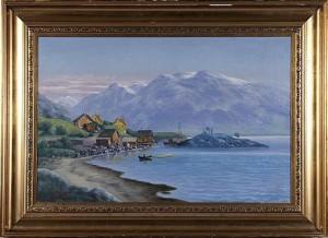 Fjordlandskap by Karl KAUFMANN