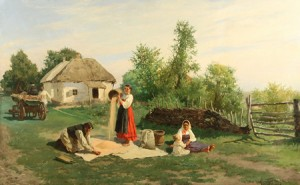 Summer In The Village by Konstantin Alexandrovich TRUTOVSKIJ