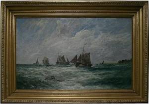 Segelfartyg Vid Kust by Edwin HAYES