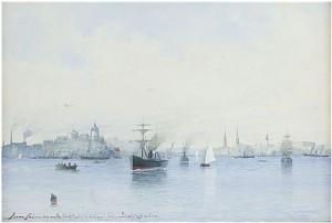 Stockholms Inlopp Från Saltsjösidan by Anna PALM DE ROSA