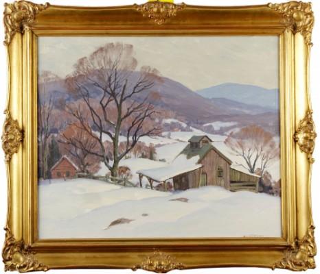 Vinterlandskap Från Vermont, Usa by Arthur LINGQUIST