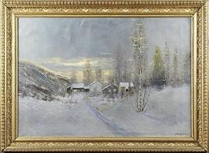 Gård I Vinterlandskap by Sigvard SIMENSEN