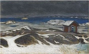 Vinterkväll by Roland SVENSSON