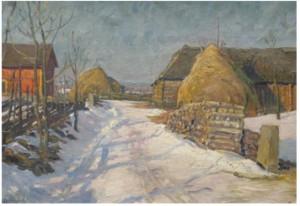 Vinterdag I Västergötland by Justus Evald LUNDEGÅRD