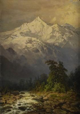 Bergsmassiv I Kaukasien by Ilya Nikolaievich ZANKOVSKY
