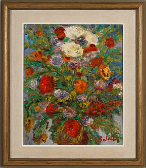 Blomsterstilleben by Reinhold KALNINS