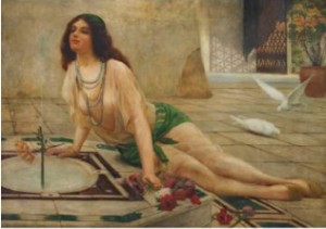 Harem Girl At A Fountain by Delapoer DOWNING