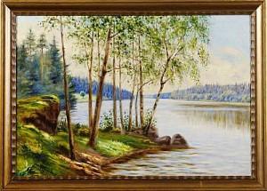 Från Smalsundet I Näshultasjön by Julius GRANBERG