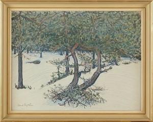 Landskapsmotiv Med Träd by Albert ENGSTRÖM