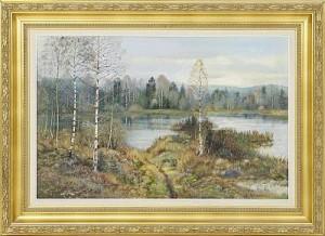 Insjölandskap by Dan-Martin 'Dan Martin' MASELL