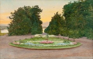 Evening In The Park by Albert Nikolaievich BENOIS