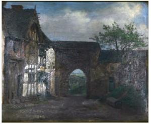 Stadsgata Från Niedeggen by Josef Wilhelm WALLANDER