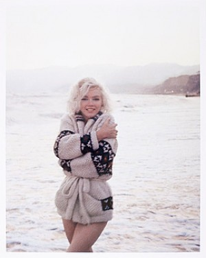Marilyn Monroe På Strand by George BARRIS