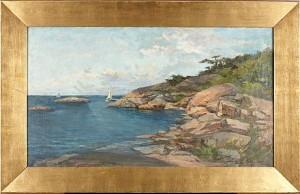 Kustlandskap Med Segelbåt by Anna NORDGREN