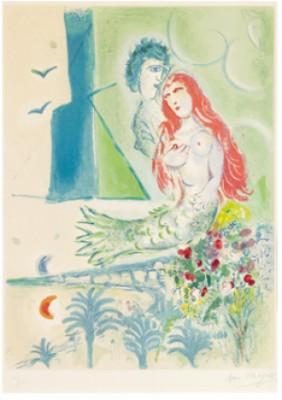Siréne Au Poète by Marc CHAGALL