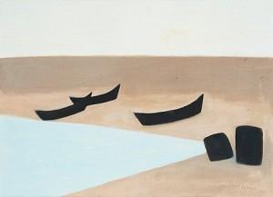 Båtar På Stranden (grönvik, Djupvik, öland) by Axel KARGEL