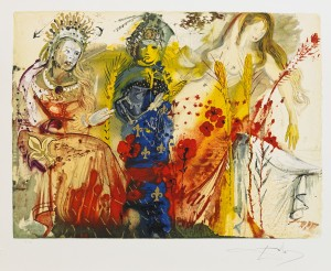 (4) The Four Seasons by Salvador DALI