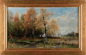 Höstlandskap by Arvid Mauritz LINDSTRÖM