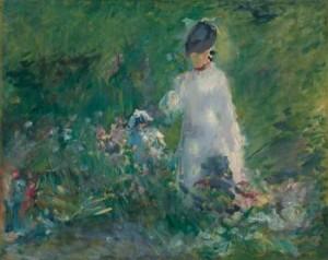 Jeune Femme Dans Les Fleurs by Edouard MANET